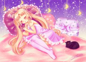 Sleeping Sailor Moon by Nawal