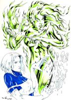 DND JLI Fire and Ice by emalterre