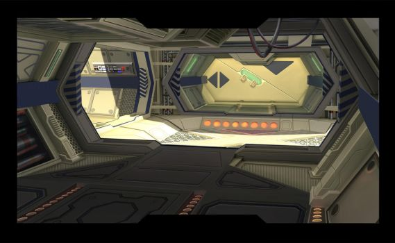 space ship interior by Woollywolf