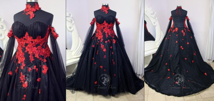 Vampire Bridal Gown by Firefly-Path