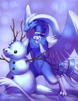 Little Snow Dragons by falvie