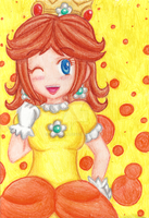 Day 4 - Daisy (Crayon) by Juliana1121