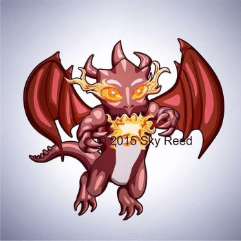 Clash of Clans - Dragon Chibi by sky00reed