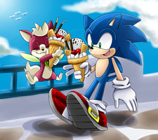 Sonic and Chip by Unichrome-uni