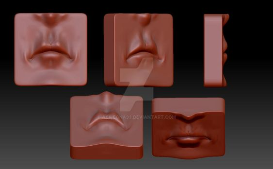 Zbrush - 3D Mouth Assignment by Acilegna93