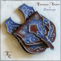 Leather belt pouch by Fantasy-Craft