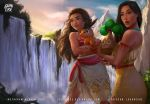 Moana and Pocahontas (Pokemon tepig bonsly) by logancure