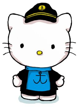 Hello Kitty as Captain Haddock by Miragehedgehog