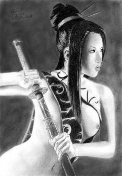 Maja Truong drawing by caiusaugustus