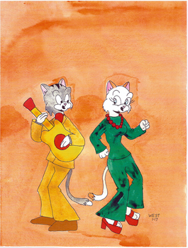 Jive Cats by maxwestart