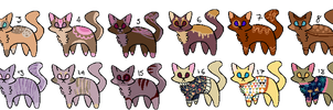 (OPEN) SUPER CHEAP Cat Adopts by plantei