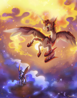 Daybreaker + Nightmare Moon by Celebi-Yoshi