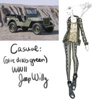WWII Jeep Willy (Olive Drab Green) by GL-Gloria