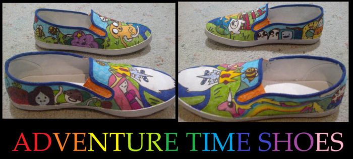 Adventure time shoes by CaseyRulz101