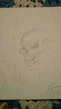 Flaming Skull concept tattoo by MoralsLost21