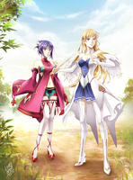 Ar tonelico 2 Luca and Cloche by L0riNell