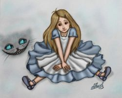 Little Alice and Cheshire by ArinaFoxy