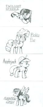 Ponies on Index Cards 1 by Phenony
