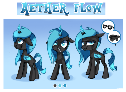 Aether Flow - Reference sheet by pepooni