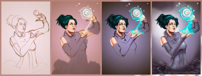 the sorceress - Step by Step by WhiteMeche