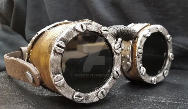 Steampunk Goggles: Closeup by Crispin23