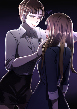 Mystic Messenger: Jaehee Kabedon by a-z04