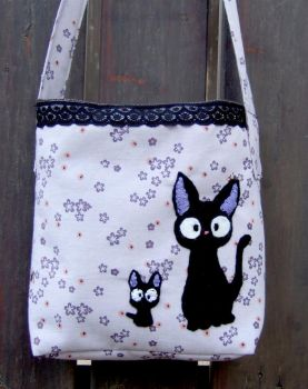 jiji and kitten hand bag by yael360