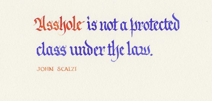 John Scalzi - Protected Class by MShades