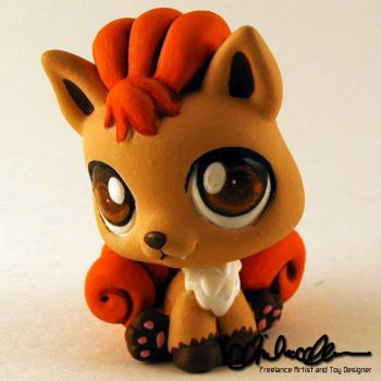 Vulpix custom Littlest Pet Shop by thatg33kgirl