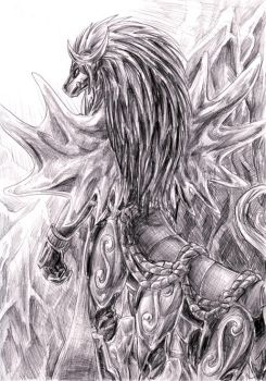 Sketch - Frost Steed by Sysirauta