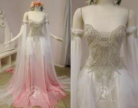Peachblossom Faerie Gown by Firefly-Path