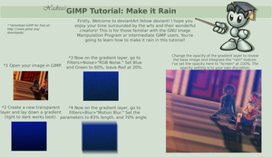 GIMP Tutorial: How to Make it Rain by Xadrea