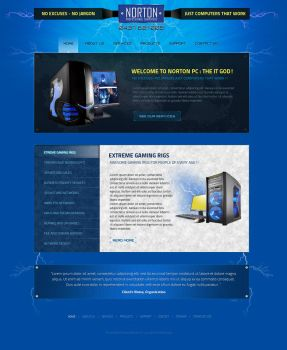 Gaming PC Supplier Web Design by View9