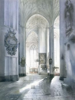 Concatedral St. Mary in Gdansk interior by GreeGW