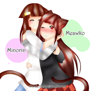Minorin X Meawko [FA]  by TitanSlayerKookku