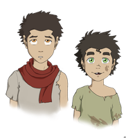 little Mako and Bolin by BlueDecember89