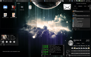 Dark Wind - KDE4 Plasma Theme by WindyPower