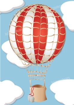 hot air balloon - illustration by icrashcars