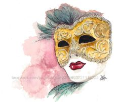Venetian Mask by Mikyechelon