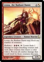MtG - Leona, the Radient Dawn by soy-monk