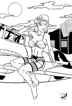 WWII Pinup Girl by spidertour02