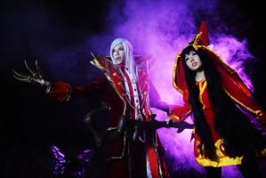 The Crimson Reaper and The Fae Sorceress by DaisyDA