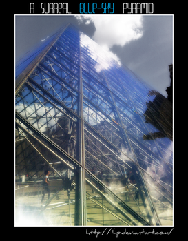 A surreal blue-sky Pyramid by 1Hp
