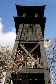 wooden Fire Tower by avarenity