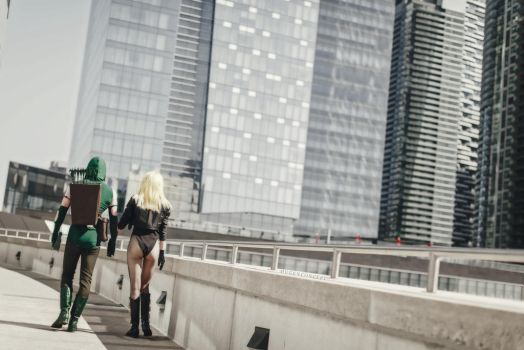 Green Arrow and Black Canary Cosplay by Galactic-Reptile