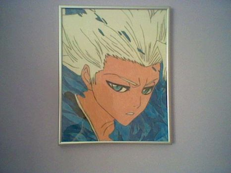 Bleach Captain Hitsugaya drawing in frame by ppgz-and-rrbz-lover