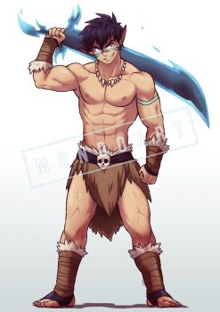 Commission - Fenris the Barbarian by MondoArt