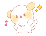 Puppy Emoji - (Kawaii Sparkle) [PMotes] by Jerikuto