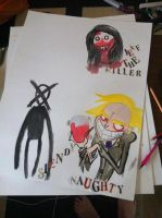 Creepy Pasta Poster (UNFINISHED) by hanahackney