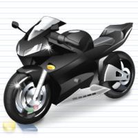 Cool Vista Motorcycle Icon by artistsvalley